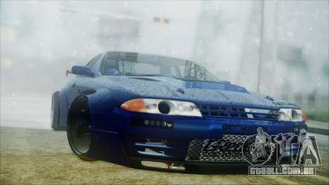 Nissan Skyline GT-R R32 Battle Machine para GTA San Andreas esquerda vista