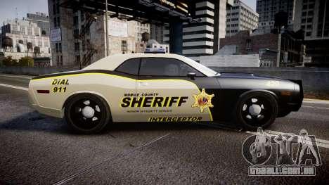 Dodge Challenger MCSO [ELS] para GTA 4 esquerda vista