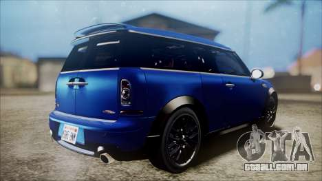 Mini Cooper Clubman 2011 Sket Dance para GTA San Andreas vista direita