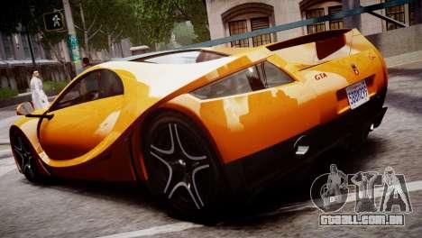 GTA Spano 2013 para GTA 4 traseira esquerda vista