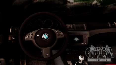 BMW M3 E46 v2 para GTA San Andreas vista superior
