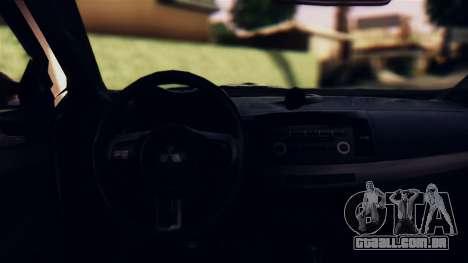 Mitsubishi Lancer Evo X 2011 Rally Bohemia para GTA San Andreas vista interior