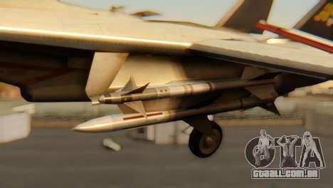 F-14A Tomcat VF-202 Superheats para GTA San Andreas vista direita