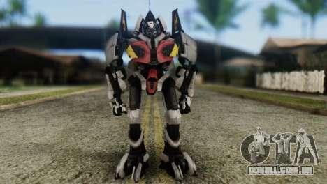 Soldier Jet Skin from Transformers para GTA San Andreas segunda tela