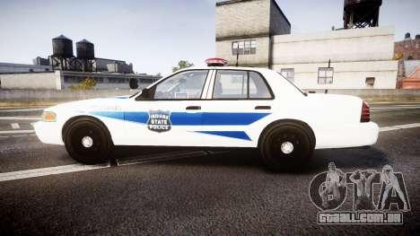 Ford Crown Victoria Indiana State Police [ELS] para GTA 4 esquerda vista
