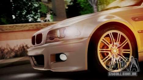 BMW M3 E46 v2 para GTA San Andreas vista interior
