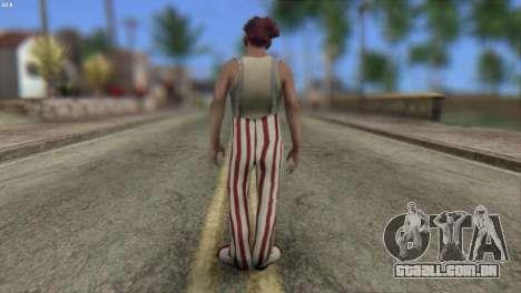 Clown Skin from Left 4 Dead 2 para GTA San Andreas segunda tela