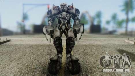Sideswipe Skin from Transformers v2 para GTA San Andreas segunda tela