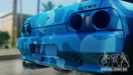 Nissan Skyline R32 Camo Drift para GTA San Andreas vista traseira