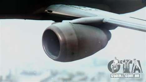 Boeing 737-800 Royal Air Force para GTA San Andreas vista direita