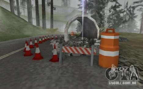 Estrada de reparação para GTA San Andreas segunda tela