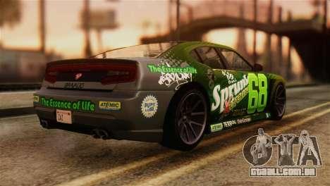 GTA 5 Bravado Buffalo Sprunk IVF para GTA San Andreas esquerda vista
