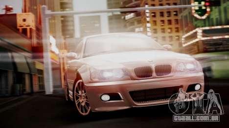BMW M3 E46 v2 para GTA San Andreas vista traseira