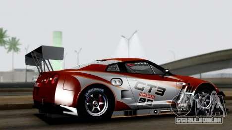 Nissan GT-R (R35) GT3 2012 PJ3 para GTA San Andreas esquerda vista