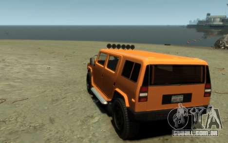 Mammoth Patriot Pickup para GTA 4 vista de volta