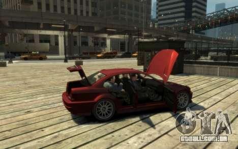 A supremacia do Sentinel (XS) 4 portas para GTA 4 vista interior