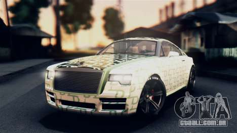 GTA 5 Enus Windsor IVF para GTA San Andreas vista superior