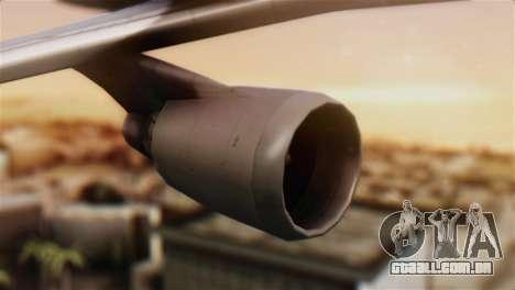 Boeing 747-400 Garuda Indonesia Sky Team para GTA San Andreas vista direita
