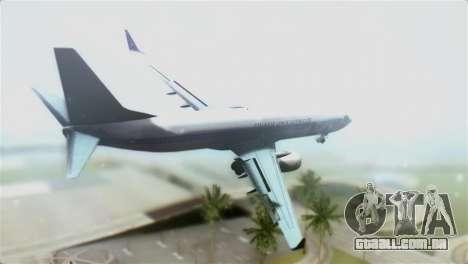 Boeing 737-800 Polskie Linie Lotnicze LOT para GTA San Andreas esquerda vista