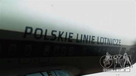 Boeing 737-800 Polskie Linie Lotnicze LOT para GTA San Andreas vista traseira
