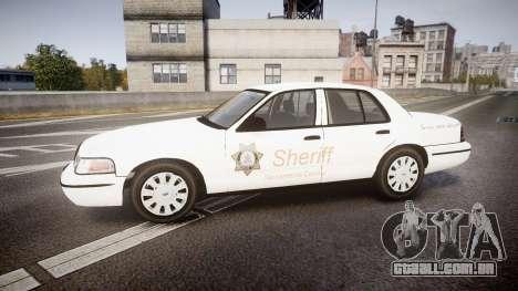 Ford Crown Victoria Sacramento Sheriff [ELS] para GTA 4 esquerda vista