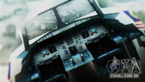 Airbus A320-200 AirAsia Line para GTA San Andreas vista traseira