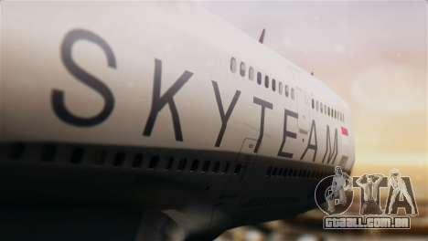 Boeing 747-400 Garuda Indonesia Sky Team para GTA San Andreas vista traseira