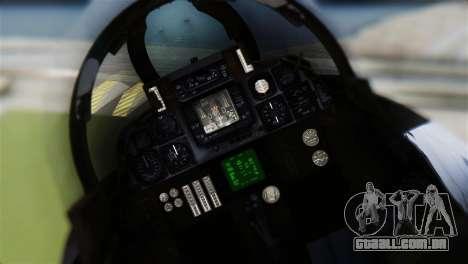 F-14A Tomcat VF-21 Freelancers para GTA San Andreas vista traseira
