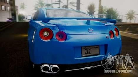Nissan GT-R 2015 para GTA San Andreas vista inferior