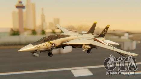 F-14A Tomcat VF-202 Superheats para GTA San Andreas vista interior