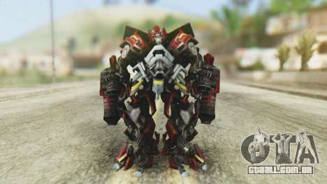 Ironhide Skin from Transformers v1 para GTA San Andreas segunda tela