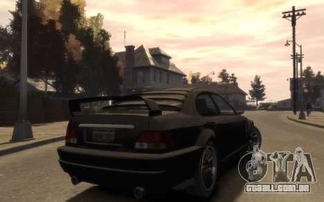 A supremacia do Sentinel (XS) 4 portas para GTA 4
