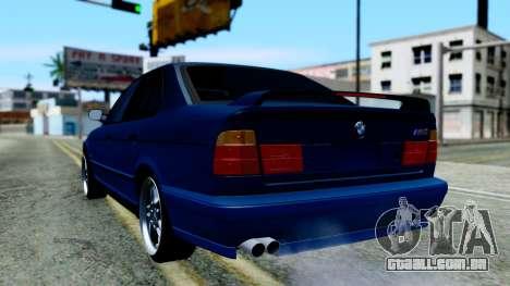 BMW M5 E34 Gradient para GTA San Andreas esquerda vista