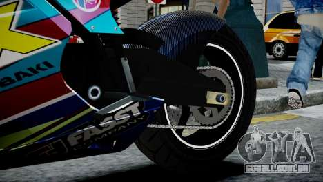 Bike Bati 2 HD Skin 2 para GTA 4 vista de volta
