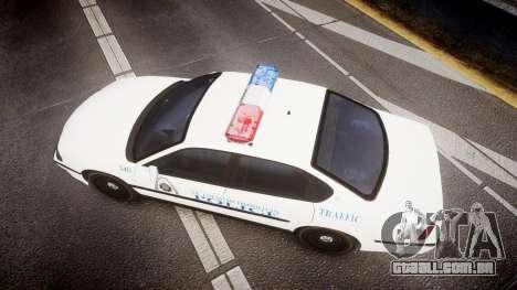 Chevrolet Impala Metropolitan Police [ELS] Traf para GTA 4 vista direita