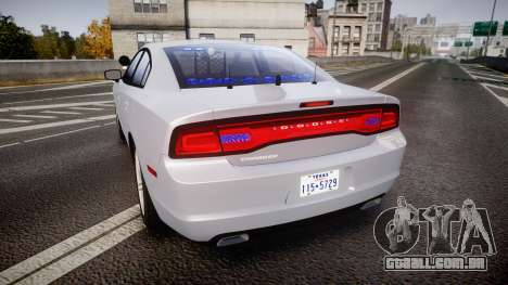 Dodge Charger Traffic Patrol Unit [ELS] bl para GTA 4 traseira esquerda vista