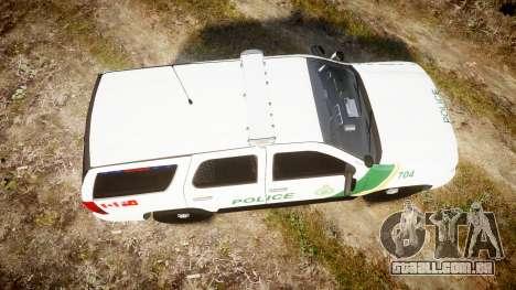 Chevrolet Tahoe Niagara Falls Parks Police [ELS] para GTA 4 vista direita