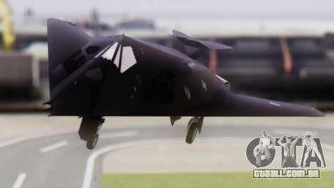 Lockheed F-117 Nighthawk ACAH para GTA San Andreas vista traseira