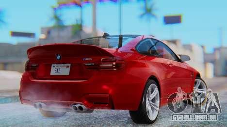 BMW M4 2015 HQLM para GTA San Andreas esquerda vista