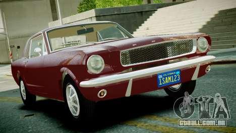 Ford Mustang 1965 para GTA 4