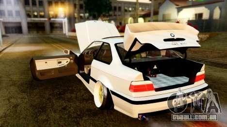 BMW M3 E36 Stance para GTA San Andreas vista interior