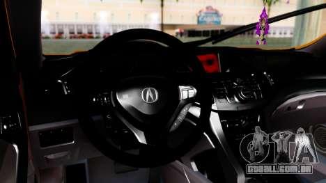 Acura TSX Hellaflush 2010 para GTA San Andreas vista direita