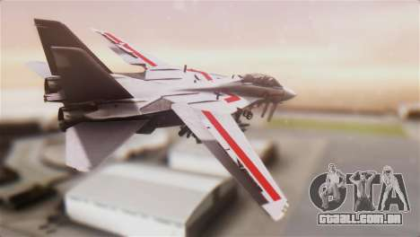 F-14D Tomcat Macross Red para GTA San Andreas esquerda vista