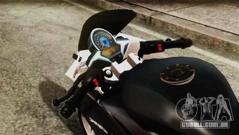 Honda CBR250R para GTA San Andreas vista direita