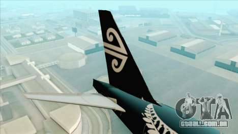 B777-200ER Air New Zealand Black Tail Livery para GTA San Andreas traseira esquerda vista