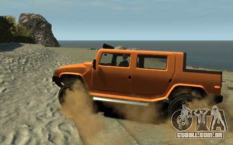 Mammoth Patriot Pickup para GTA 4 esquerda vista