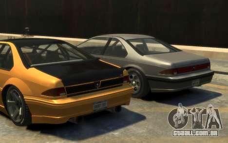Vapid Fortune Drift para GTA 4 vista de volta