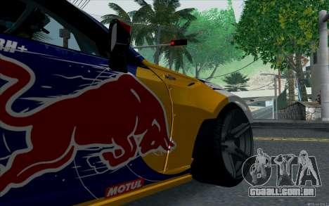 Toyota GT86 Red Bull para GTA San Andreas vista traseira