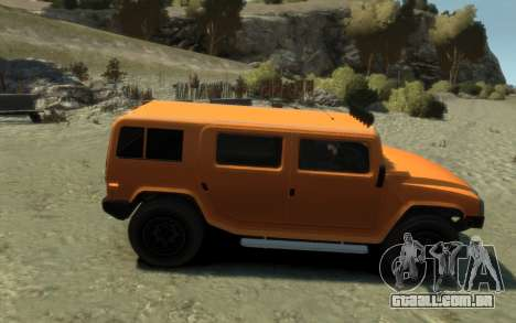 Mammoth Patriot Pickup para GTA 4 vista direita