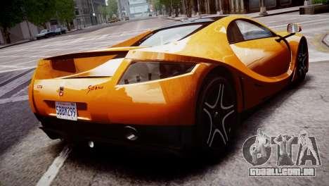GTA Spano 2013 para GTA 4 esquerda vista